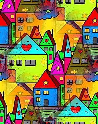 Home Sweet Home By Nico Bielow Art Print by Nico Bielow