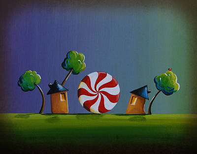 Home Sweet Home Art Print by Cindy Thornton