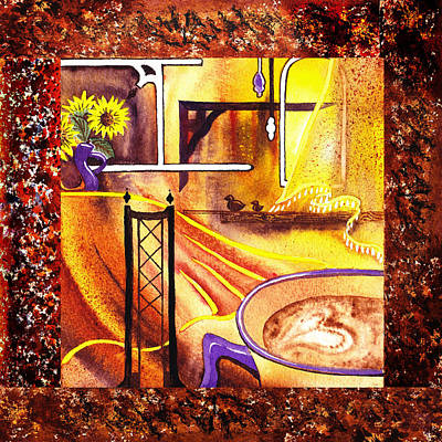 Painting - Home Sweet Home Decorative Design Welcoming One by Irina Sztukowski