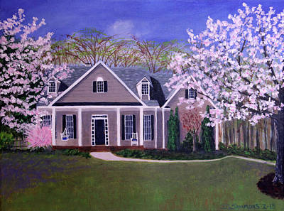 Art Print featuring the painting Home Sweet Home by Janet Greer Sammons