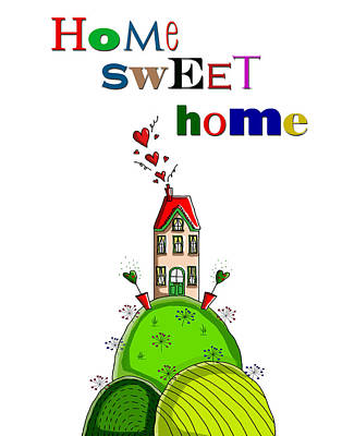 Home Sweet Home Print by Kelly McLaughlan