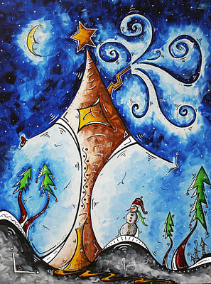 Christmas Eve Painting - Home Sweet Home by Megan Duncanson