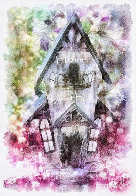 Painting - Home Sweet Home by Mo T