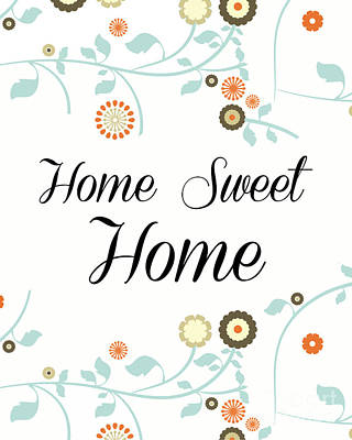 Sweet Digital Art - Home Sweet Home by Pati Photography