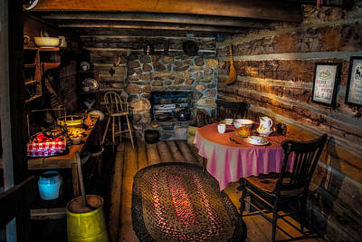 Log Cabin Interiors Photograph - Home Sweet Home by Paul Freidlund