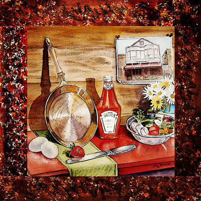 Ketchup Painting - Home Sweet Home Welcoming Five by Irina Sztukowski