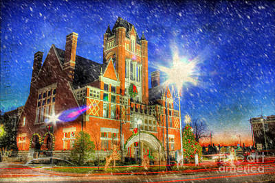 December Road Photograph - Home Town Christmas by Darren Fisher