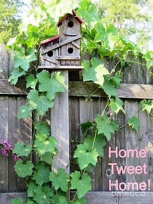 Tweets Digital Art - Home Tweet Home by Kimberlee Baxter