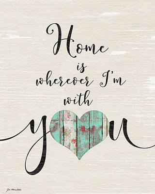 Painting - Home With You by Jo Moulton