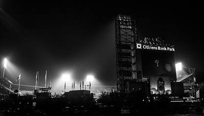 Homefield Lights Art Print by Michael Misciagno