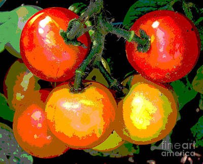 Homegrown Tomatoes Art Print by Annette Allman