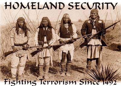 Terrorism Painting - Homeland Security - 1886 by Pg Reproductions