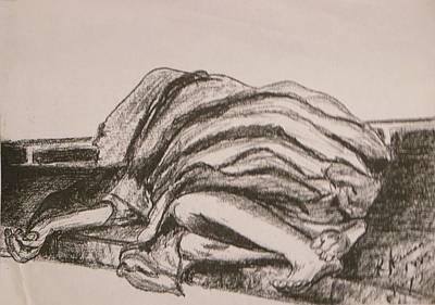 Drawing - Homeless by Esther Newman-Cohen