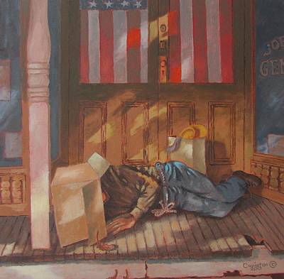 Painting - Homeless , Morning Son by Tony Caviston