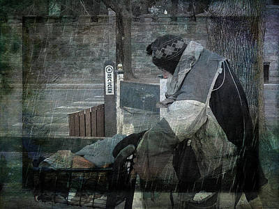 Homeless Man Art Print by Geoffrey Coelho