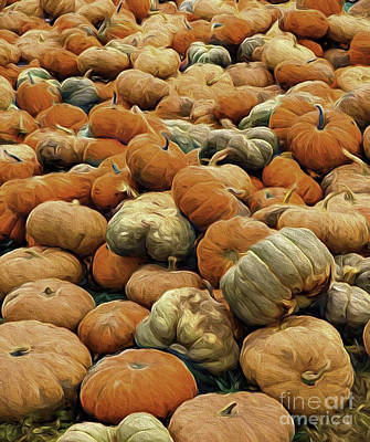 Homeless Pumpkins Art Print by Nancy Marie Ricketts