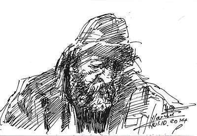 Sketch Drawing - Homeless by Ylli Haruni