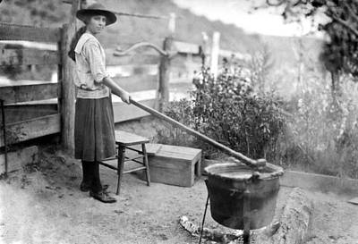 Maryland Photograph - Homemade Apple Butter by Underwood Archives