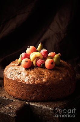 Hand Crafted Photograph - Homemade Rich Fruit Cake by Amanda Elwell