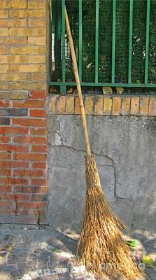 Homemade Straw Broom Art Print