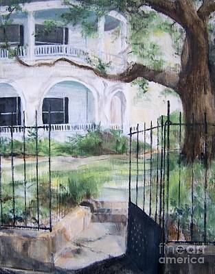 Art Print featuring the painting Homeplace by Mary Lynne Powers