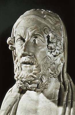 Homer 9th Century  Bc. Greek Writer Art Print by Everett