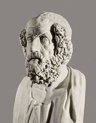 Homer 9th Century  Bc. Roman Copy Art Print by Everett