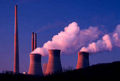 Steam Turbine Wall Art - Photograph - Homer City Coal-fired Power Plant by Theodore Clutter