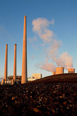 Steam Turbine Wall Art - Photograph - Homer City Power Plant And Coal Piles by Theodore Clutter
