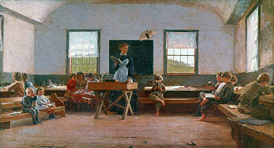 Schoolboy Painting - Homer Country School by Granger