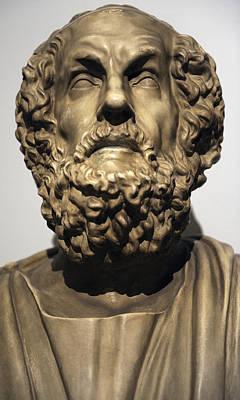 Hellenistic Sculpture - Homer  by Greek School