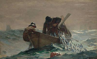 Net Painting - Homer Herring Net, 1885 by Granger