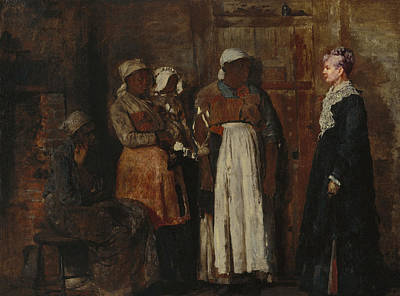 Freed Slaves Painting - Homer Old Mistress, 1876 by Granger