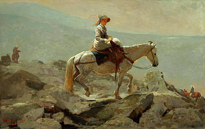 Painting - Homer The Bridle Path, 1868 by Granger