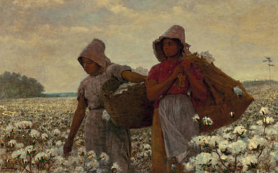 Cotton Fields Painting - Homer The Cotton Pickers by Granger