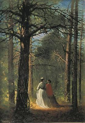 Realist Photograph - Homer, Winslow 1830-1910. Waverly Oaks by Everett