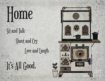 Digital Art - Home To Roost by Megan Dirsa-DuBois