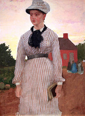 Prout's Neck Photograph - Homer's The Red School House by Cora Wandel