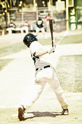 Baseball Royalty-Free and Rights-Managed Images - HomeRun Hitter by Karol Livote