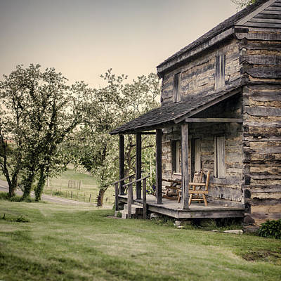 Homestead At Dusk Print by Heather Applegate