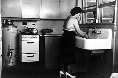 Homestead Kitchen, 1936 Art Print