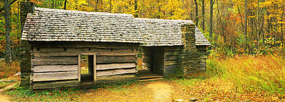 Log Cabins Photograph - Homestead Log Cabin In A Forest, Great by Panoramic Images