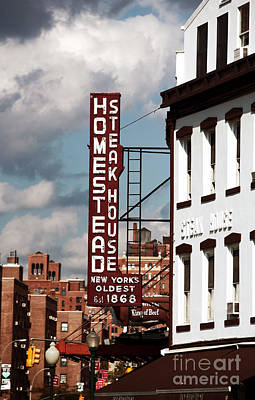 Homestead Steakhouse Art Print by John Rizzuto