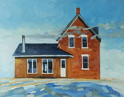 Salt Air Painting - Homestead -west Wind by Phil Chadwick