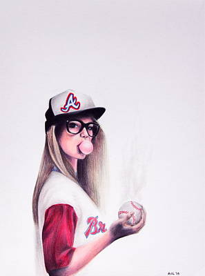 Atlanta Braves Drawing - Hometown Glory by Aubry Claire Leal