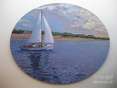 Eastern Point Painting - Homeward Bound  by Stella Sherman