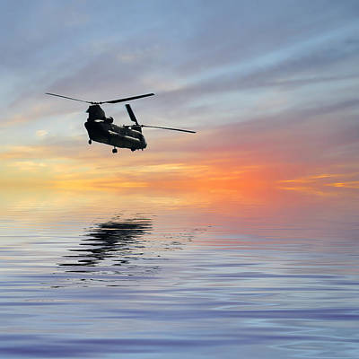 Helicopter Digital Art - Homeward Bound 3 by Sharon Lisa Clarke