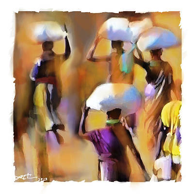 Haitian Painting - Homeward Bound by Bob Salo