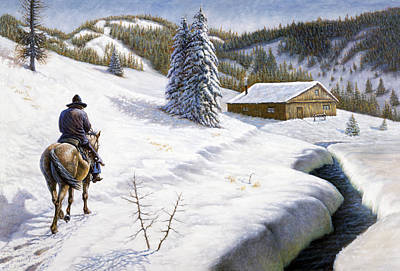 Ice Fishing Painting - Homeward Bound by Gregory Perillo