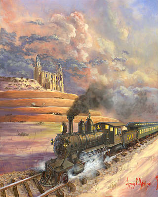 Church Of Jesus Christ Of Latter-day Saints Painting - Homeward Bound by Jeff Brimley